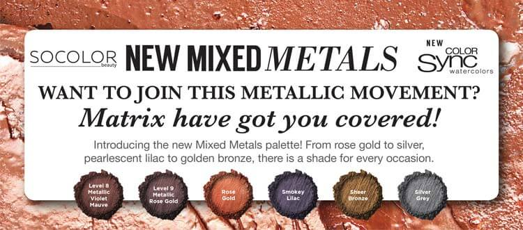 Introducing the new Matrix Mixed Metals palette! From rose gold to silver, pearlescent lilac to golden bronze, there is a shade for every occasion.