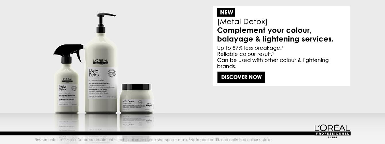 New Serie Expert Metal Detox, helps neutralise excess copper found inside the hair fibre.