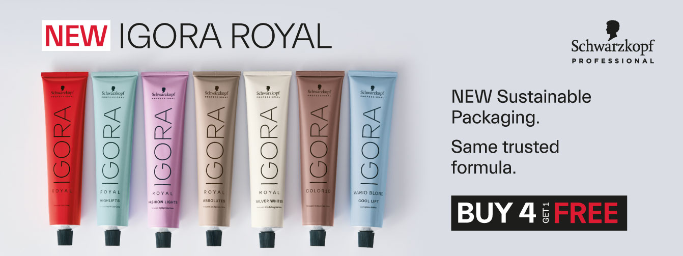 New Igora Royal From Schwarzkopf, New Sustainable Packaging, Same Trusted Formula