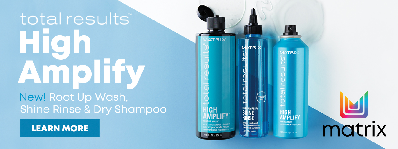 New Matrix High Amplify Root Up Wash, Shine Rinse & Dry Shampoo