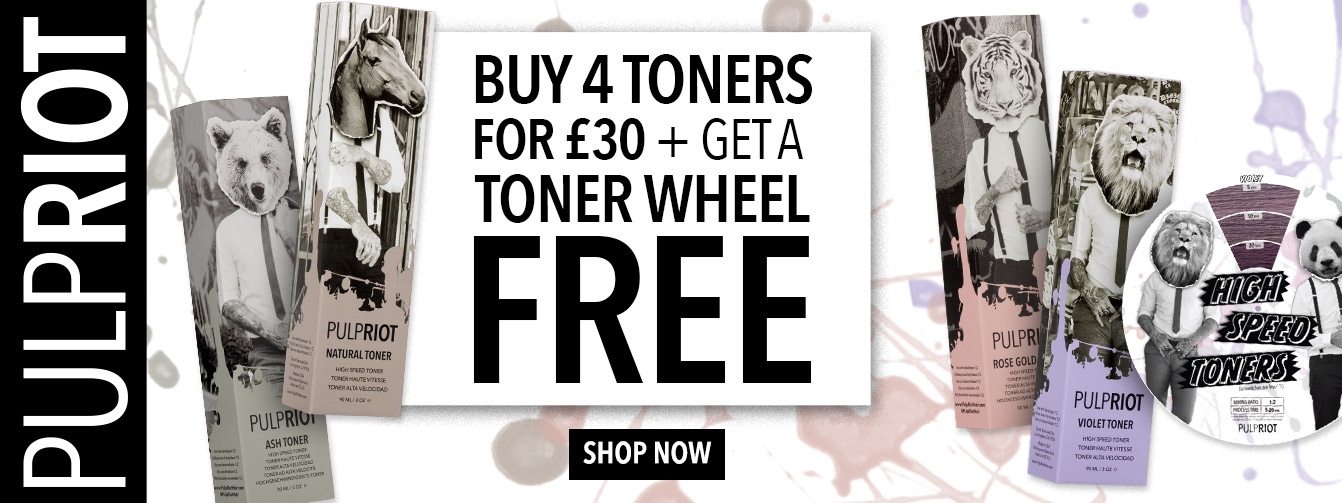 Buy 4 Pulp Riot Toners for £30 + get a free shade dial consultation tool