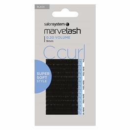 C Curl Lashes 9mm Black thumbnail