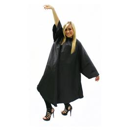 Sleeved Gown with Poppers Black thumbnail