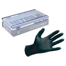 Black Nitrile Gloves P/F Medium -  100 b thumbnail