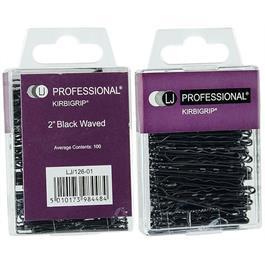 4.5cm Waved Kirbigrip Black - 100 Pack thumbnail