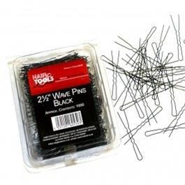 """2.5"""" Waved Pins Black - 1000 thumbnail"""