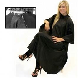 Unisex Gown with Poppers Black thumbnail