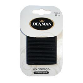 Denman 30pk 2mm Elastics - Black thumbnail