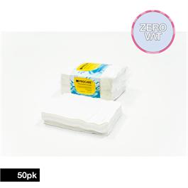 Procare Disposable White Towels 50 pk thumbnail