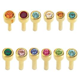 Mini Assorted Birthstone Gold Plated  thumbnail