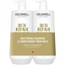 Dualsenses Restoring Shampoo & Conditioner Twin Pack 1L thumbnail