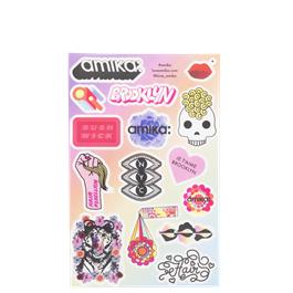 amika 18 Multi Sticker Sheet Half Size thumbnail