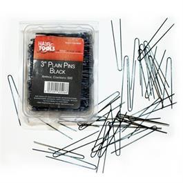 """3"""" Plain Pins Black - 500 thumbnail"""