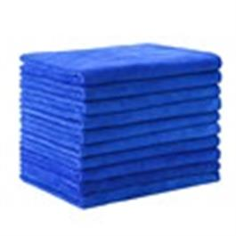Microfibre Towels x 10 pack Cyan Blue thumbnail