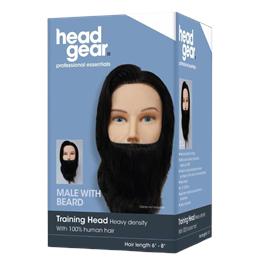 Head Gear Mens Training Head with Beard thumbnail