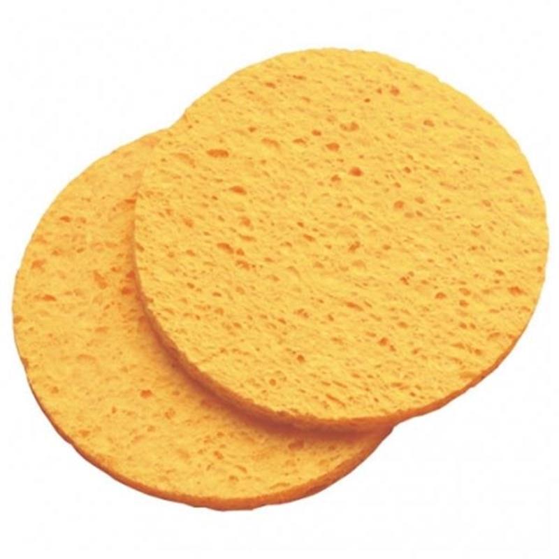 Cellulose Yellow Mask Removing Sponge Image 1