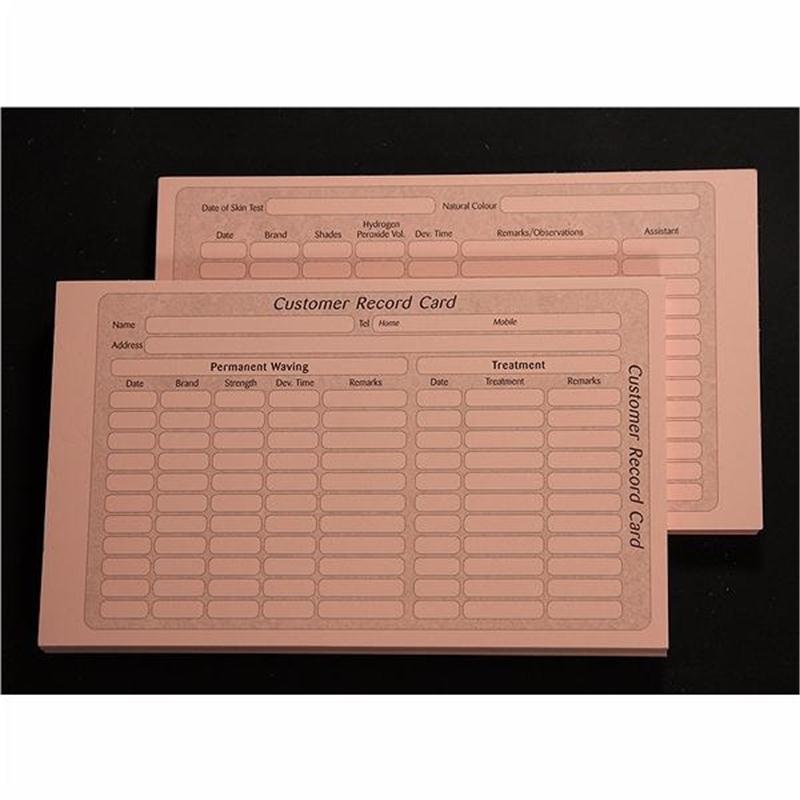 Record Cards Perm/Tinting Image 1