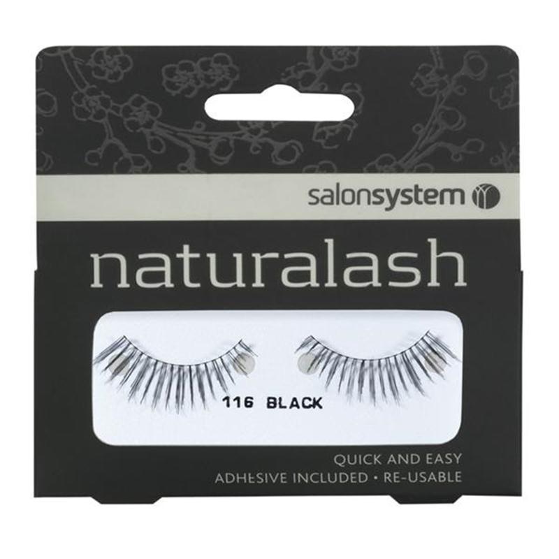 Naturalash 116  Strip Black Lashes Image 1