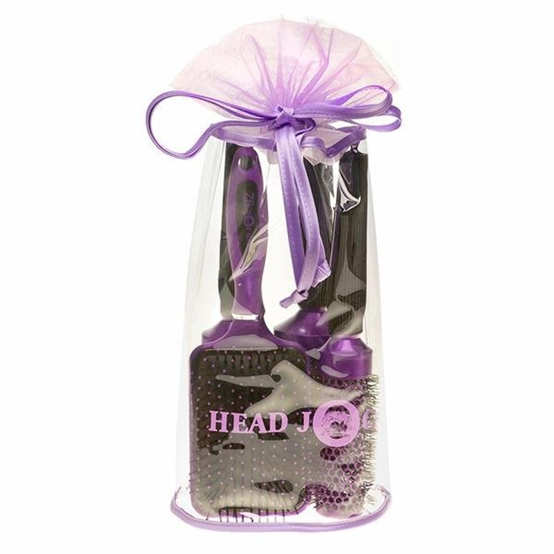 Oval Purple 4 Piece Brush Bag Image 1