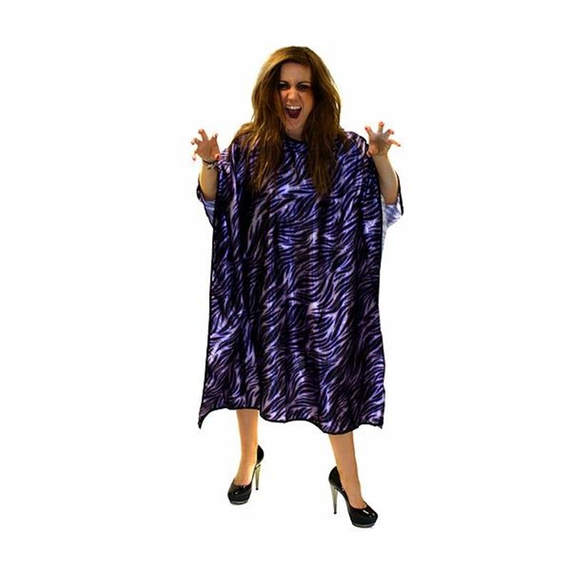 Purple Tiger Print Gown Image 1