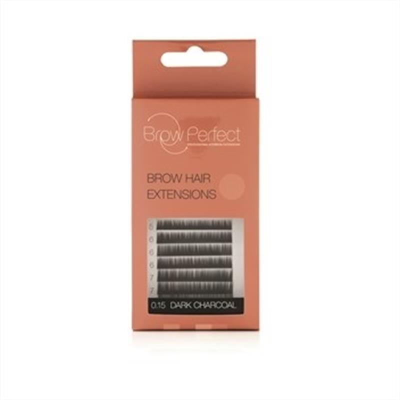Brow Hair Extension Dark Charcoal Image 1