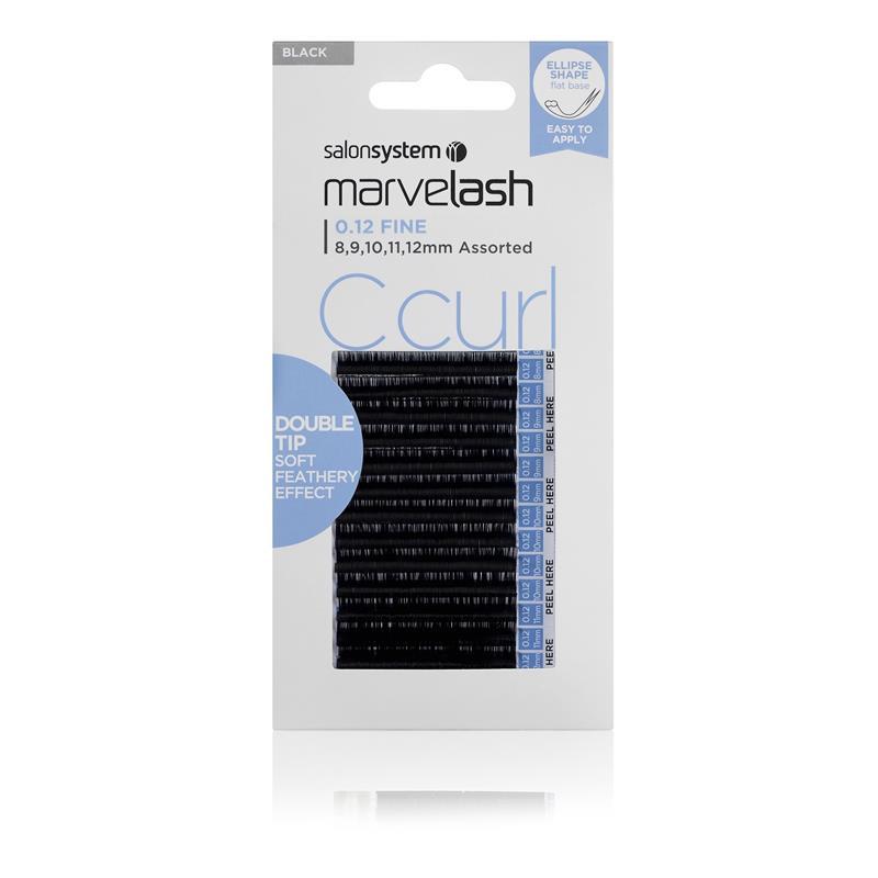 C Curl  Double Tip Lashes Ellipse 12mm Image 1