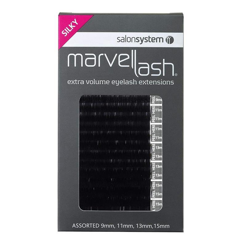 Marvelash Extra Volume Silky Eyelash Assorted Black Image 1
