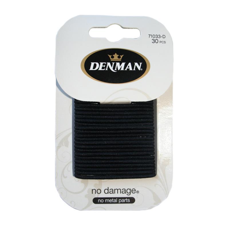 Denman 30pk 2mm Elastics - Black Image 1
