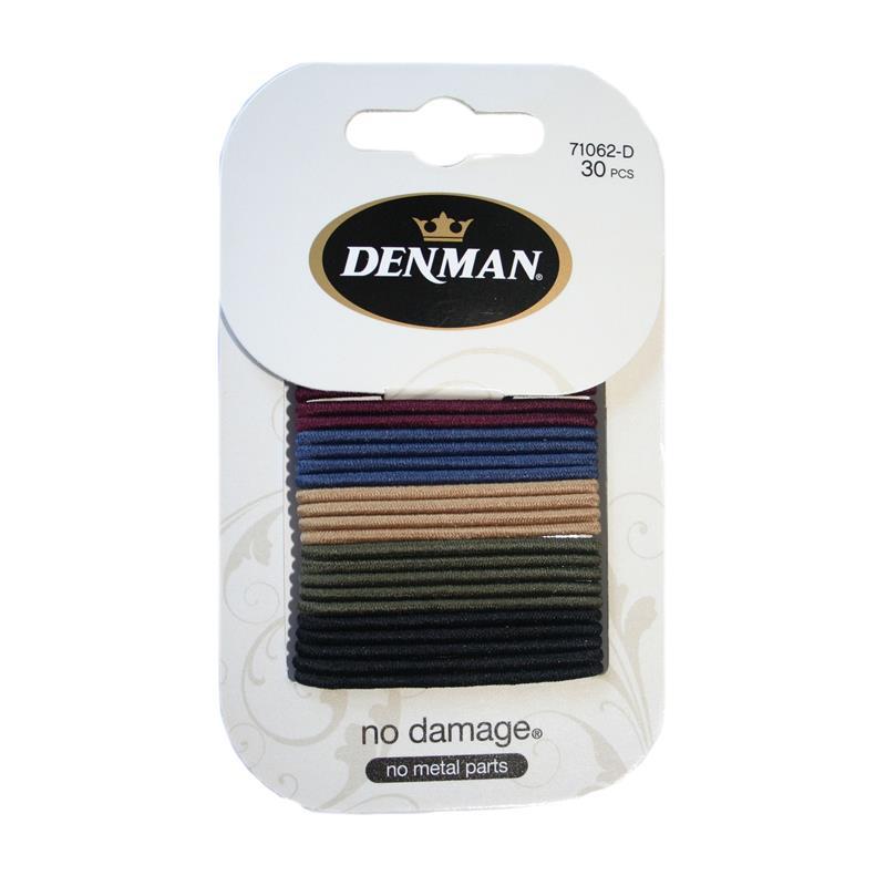 Denman 30pk 2mm Elastics - Neutrals Image 1