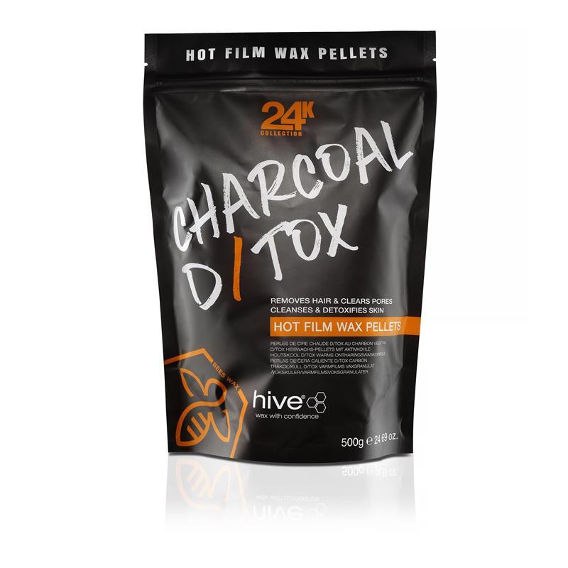Hive Charcoal Detox Wax Pellets 500g Image 1