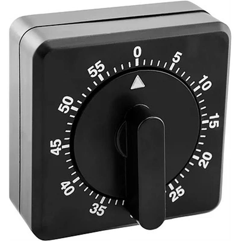 Standard Mechanical Timer in Black Image 1