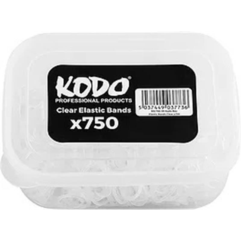 Kodo Clear Hair Bands Tub - 750 Pack Image 1