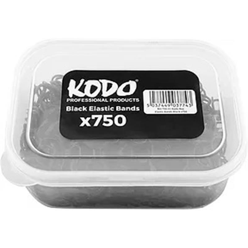 Kodo Black Hair Bands Tub Image 1