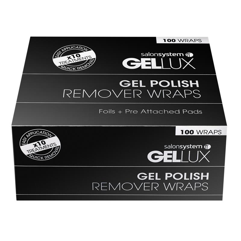 Gellux Remover Wraps 100(foil + pre-atta Thumbnail Image 1