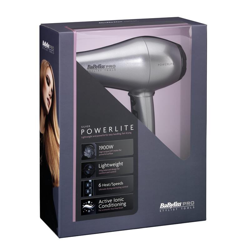 Babyliss Pro Powerlight Dryer Silver Thumbnail Image 1