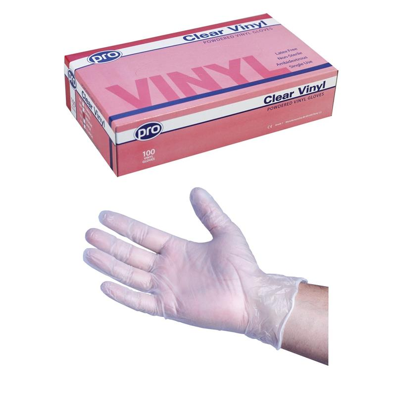 Stretch Vinyl Gloves 100's LARGE Image 1