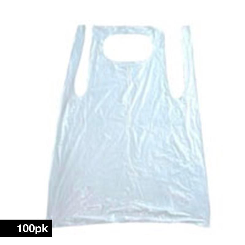 Disposable Aprons 100pk White Image 1