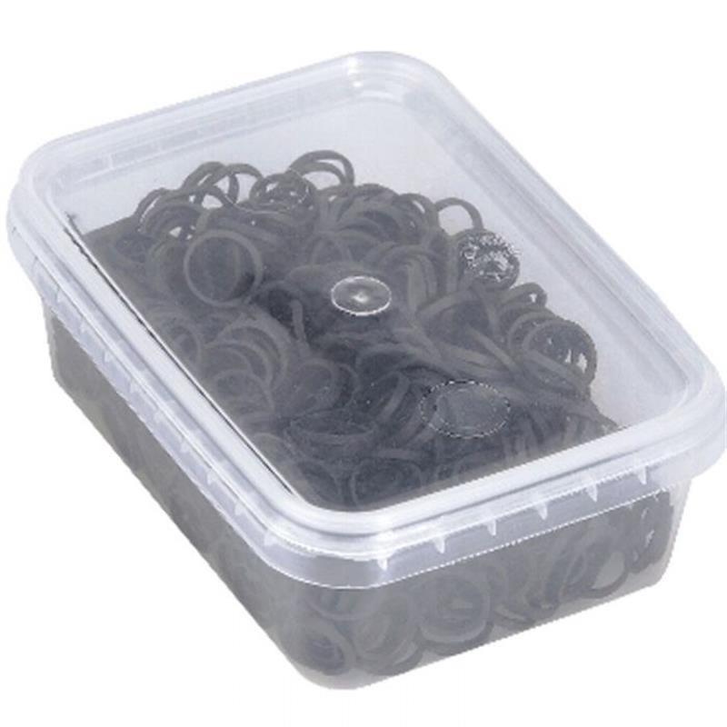 Black Elastic Hair Bands 500 Pack Image 1