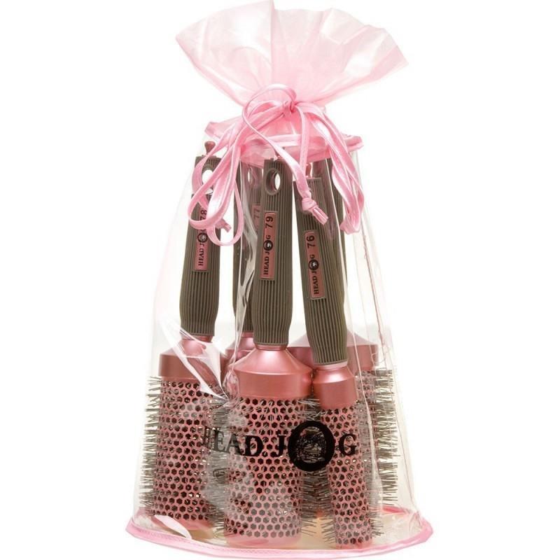 Oval Pink Brush Set Image 1