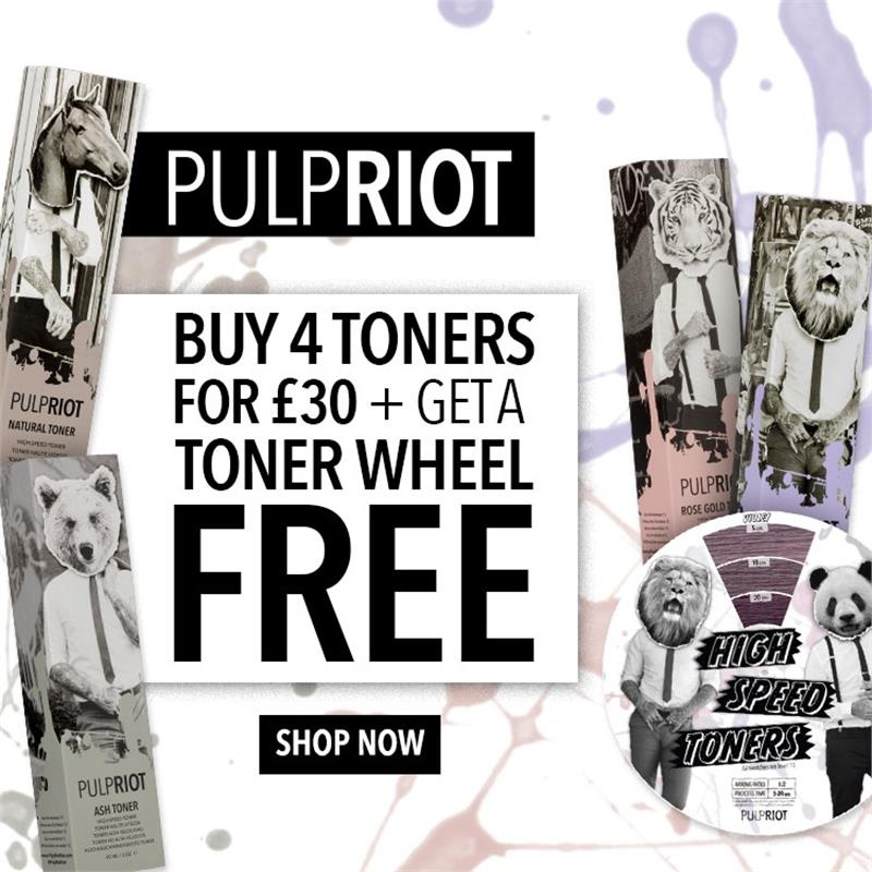 Buy 4 Toners for £30 and get a free Hair Dial Colour Wheel Image 1