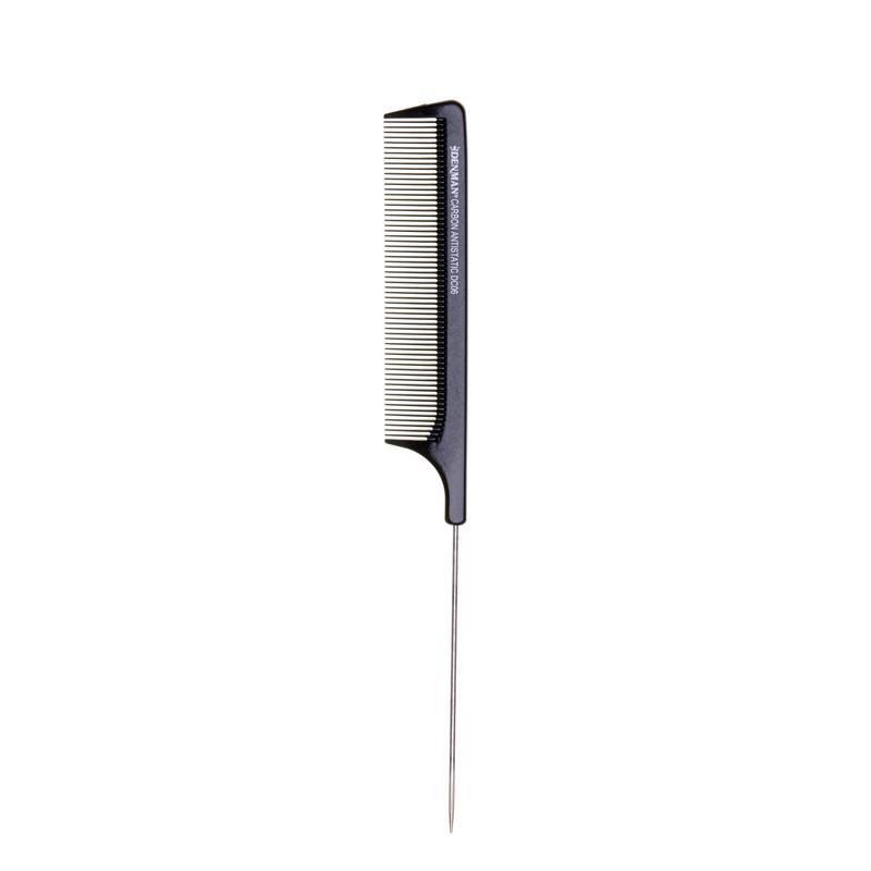 Denman DC06 Carbon Pin Tail Comb Image 1