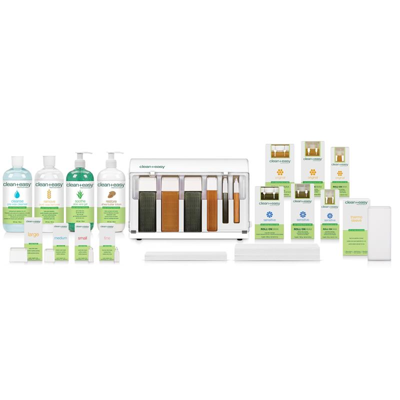 Clean & Easy Waxing Spa Kit Image 1