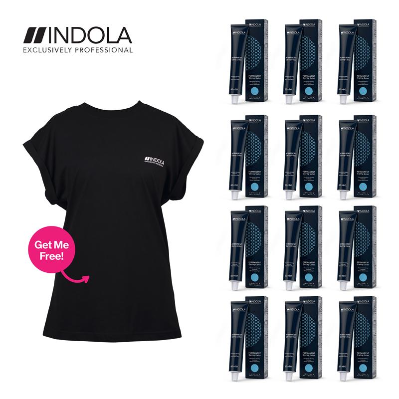 Indola Colour 12 tubes plus free T-shirt Image 1